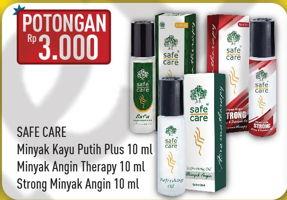 Promo Harga SAFE CARE SAFE CARE Minyak Kayu Putih/Minyak Angin Aroma Therapy  - Hypermart