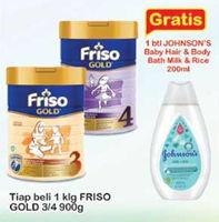 Promo Harga FRISO Gold 3/4 Susu Pertumbuhan 900 gr - Indomaret