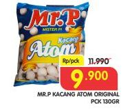 Promo Harga MR.P Kacang Atom Original 130 gr - Superindo