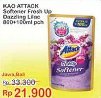Promo Harga ATTACK Fresh Up Softener Dazzling Lilac 900 ml - Indomaret