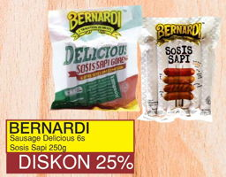 Promo Harga BERNARDI Bernardi Delicious SOsis Sapi Goreng / Sosis Sapi  - Yogya