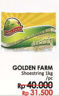 Promo Harga GOLDEN FARM French Fries Shoestring 1 kg - LotteMart