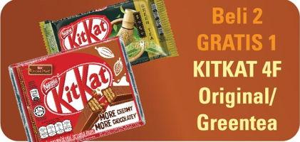 Promo Harga KIT KAT KIT KAT 4 Fingers Chocolate/Greentea  - Hypermart