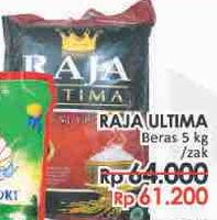 Promo Harga RAJA Ultima Beras 5 kg - LotteMart