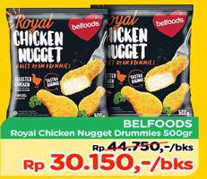 Promo Harga BELFOODS ROYAL Chicken Nugget Drummies 500 gr - TIP TOP