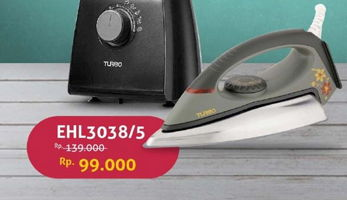 Promo Harga TURBO EHL3038 Iron  - Hartono