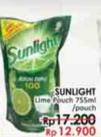 Promo Harga SUNLIGHT Pencuci Piring Jeruk Nipis 100 755 ml - LotteMart