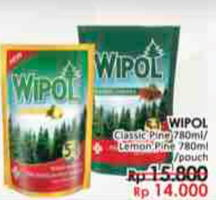 Promo Harga WIPOL Karbol Wangi Classic Pine, Lemon Pine 780 ml - LotteMart