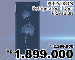 Promo Harga POLYTRON PRA 18   Kulkas 1 Pintu 180ltr BN  - Giant