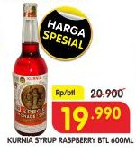Promo Harga KURNIA Sirup Raspberry 600 ml - Superindo