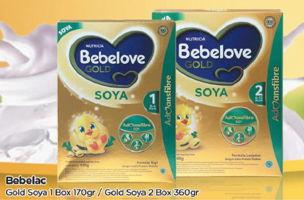 Promo Harga BEBELOVE Bebelove Gold Soya 1 170gr / Bebelove Gold Soya 2 360gr  - TIP TOP