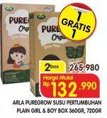 Promo Harga ARLA Puregrow Organic 1+ Boys, Girls per 2 box - Superindo