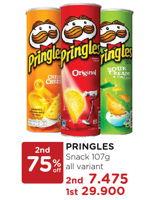 Promo Harga PRINGLES Potato Crisps 107 gr - Watsons