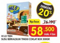 Promo Harga HILO Teen Chocolate 500 gr - Superindo