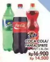 Promo Harga Coca Cola/Fanta/Sprite 1500 ml - LotteMart