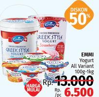 Promo Harga EMMI Yoghurt All Variant 100gr-1kg  - LotteMart