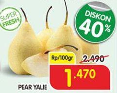 Promo Harga Pear Ya Lie per 100 gr - Superindo