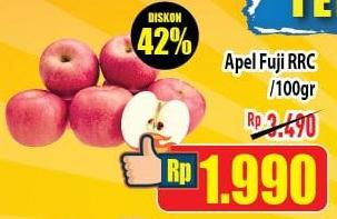 Promo Harga Apel Fuji RRC per 100 gr - Hypermart