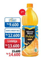 Promo Harga MINUTE MAID Juice Pulpy 1 ltr - Alfamidi