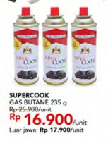 Promo Harga SUPER COOK Liquified Butane Fuel 235 gr - Carrefour