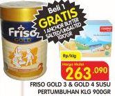 Promo Harga FRISO Gold 3/4 Susu Pertumbuhan 900 gr - Superindo