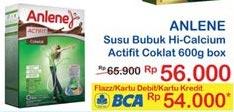 Promo Harga ANLENE Actifit Susu High Calcium Cokelat 600 gr - Indomaret