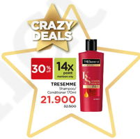 Promo Harga TRESEMME Shampoo/Conditioner 170 ml - Watsons