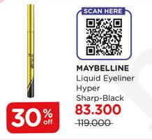 Promo Harga MAYBELLINE Hyper Sharp Liner Black  - Watsons