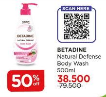 Promo Harga BETADINE Natural Defense Body Wash 500 ml - Watsons