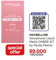 Promo Harga MAYBELLINE Sensational Liquid Matte Ombre Kit  - Watsons