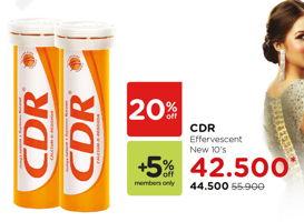 Promo Harga CDR Suplemen Makanan Effervescent 10 pcs - Watsons
