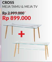 Promo Harga COURTS Cross Meja Tamu & Meja TV  - Courts