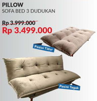 Promo Harga COURTS Pillow Sofa Bed  - Courts