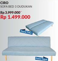 COURTS Ciro Sofa Bed  Diskon 63%, Harga Promo Rp1.499.000, Harga Normal Rp3.999.000