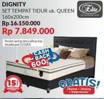 Promo Harga ELITE Dignity Complete Bed Set 160x200cm  - Courts
