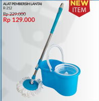 Promo Harga SOFTLINE Spin Mop X-212  - Courts