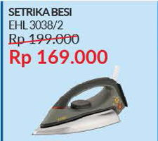 Promo Harga TURBO EHL3038 Iron  - Courts
