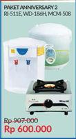 Promo Harga RINNAI Gas Stove + Water Dispenser + Rice Cooker  - Courts