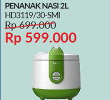 Promo Harga PHILIPS HD 3119 | Rice Cooker  - Courts
