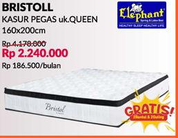 Promo Harga ELEPHANT Springbed Set Bristol 160x200  - Courts