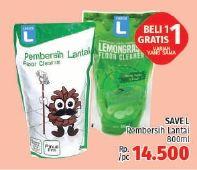 Promo Harga SAVE L Floor Cleaner 800 ml - LotteMart