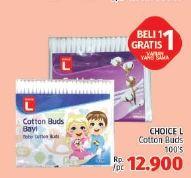 Promo Harga CHOICE L Cotton Buds 100 pcs - LotteMart