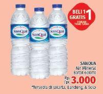 Promo Harga SANQUA Air Mineral 600 ml - LotteMart