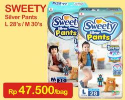 Promo Harga SWEETY Silver Pants M30, L28  - Indomaret