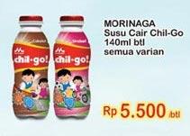 Promo Harga MORINAGA Chil Go UHT All Variants 140 ml - Indomaret