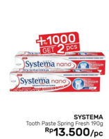 Promo Harga SYSTEMA Toothpaste Spring Fresh 190 gr - Guardian