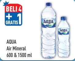 Promo Harga AQUA AQUA Air Mineral 1500 ml/600 ml  - Hypermart