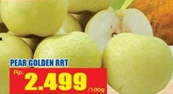 Promo Harga Pear Golden RRT per 100 gr - Hari Hari