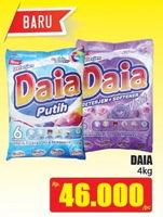 Promo Harga DAIA Deterjen Bubuk 4 kg - Hari Hari