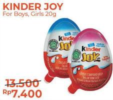 Promo Harga KINDER JOY Chocolate Crispy Boys, Girls 20 gr - Alfamart